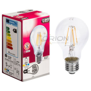 Filament Bulb A60 4W 6W 8W LED Vintage Bulb with 360 Degree pictures & photos