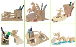 3D DIY Wood Puzzle for Kids Playing