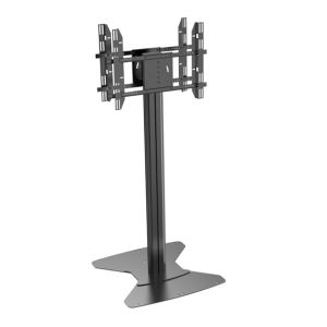 "Public TV Floor Stand Floorbase Dual Screens 30-60"" Landscape & Portrait (AVE 200A) pictures & photos"