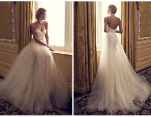 Simple UK/Germany Wedding Dress pictures & photos