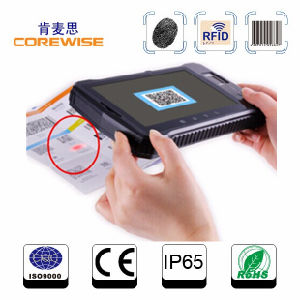 Rugged Android Fingerprint Reader Tablet PC with Barcode Scanner pictures & photos