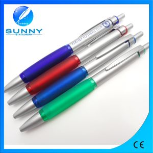 Plastic Promotional Custom Logo Pen, Rubber Ball Pen pictures & photos