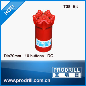 Threaed Drill Bits Q10-70mm T38 with DC Face Dome Buttons pictures & photos