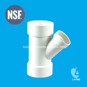 UPVC Fitting Reducing Wye Tee ASTM D2665 Standard for Dwv Drain Water with NSF Certificate pictures & photos