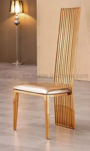 Hotel Furniture High Back Modern Rosegold Dining Chair (B005#) pictures & photos