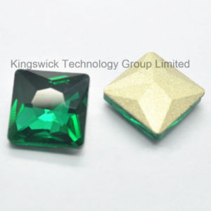 2015 New Christmas Square Green Glass Stone pictures & photos