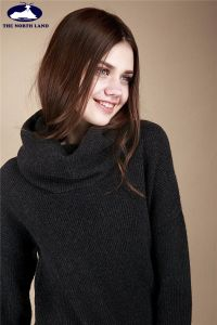 Women′s Cashmere Big Turtleneck Pullover-Women′s Cashmere-Cashmere Sweater pictures & photos
