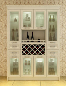 Bck Newest Open Modern White Wood Living Room Wine Cabinet N-8 pictures & photos