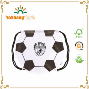 Fashion Style Soccer Ball Drawstring Backpack pictures & photos