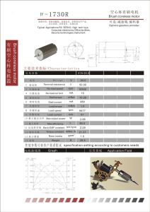 Brush Coreless DC Motor for Tattoo Pen (1730R) pictures & photos