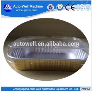 High Quality Smooth Wall Aluminum Foil Dish with Lid pictures & photos