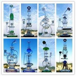 Wholesale Factory Shop Microscope 18inch Recycler Percolator Glass Water Pipe pictures & photos