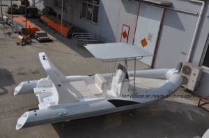 Liya 22ft Inflatable Sailing Boat Offshore Rigid Hypalon Inflatable Boat with Motor pictures & photos
