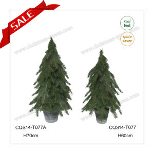 H60-87cm Outdoor Christmas Decoration Supplies Mini Christmas Tree in Pot pictures & photos