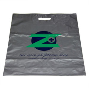 High Quality Virgin LDPE Printed Die Cut Handle Plastic Bags for Shopping (FLD-8574) pictures & photos