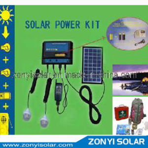 Solar Mobile Charger with Two Light and Batteries for Radio pictures & photos