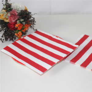 Red Striped Design Paper Napkin Party Decoration pictures & photos