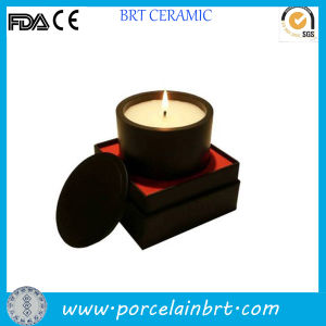 Fashion Round Black Ceramic Candle Jars pictures & photos