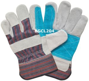Palm Reinforced Split Cow Leather Work Gloves