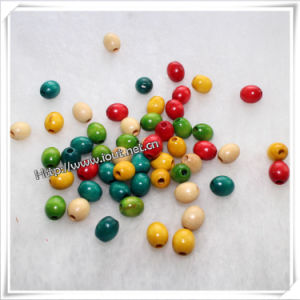 Oval Wooden Beads on Sale for Bracelet / Necklace (IO-wa040) pictures & photos