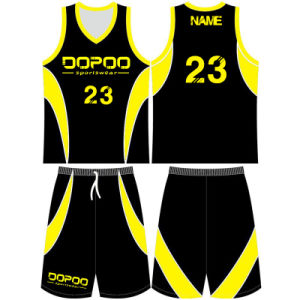 Youth Sublimated Basketball Uniform with Mesh Fabric pictures & photos