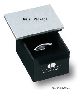 Silver & Black Color Paper Jewelry Packing Box with Custom Logo pictures & photos