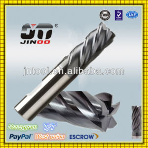 Jingnuo Tungsten Solid Carbide 4 Flute End Mill Speeds pictures & photos