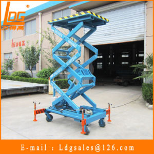 500kg 3m Mobile Hydraulic Aerial Platform (SJY0.5-3) pictures & photos