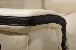 L Shape Mixed Color with Recliner Leather Sofa pictures & photos