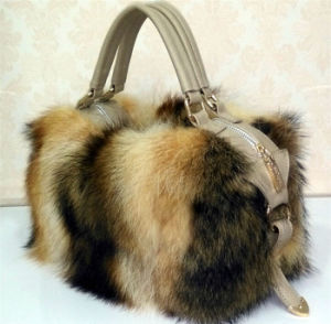 New Design Women′s Raccoon Fur Bag Qy-B003 pictures & photos
