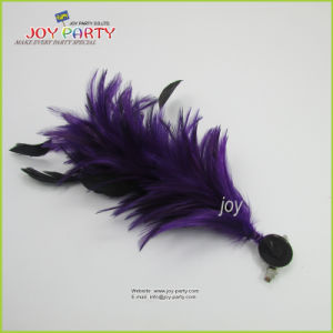 Purple Feather Hair Clip Hair Accessories pictures & photos