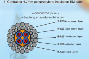 4-Conductor 4.7mm Polypropylene Insulation Em Cable pictures & photos