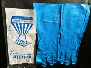 Hotsale China Factory Stock Industrial Gloves 15mil pictures & photos