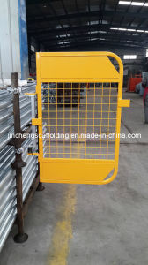Yellow Powder Coating Swing Gate pictures & photos