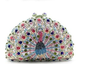 Peacock Glass Stone Evening Bag, Party Clutch Bag pictures & photos