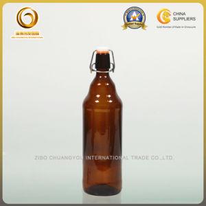 Flip Top 1000ml Glass Amber Beer Bottles (025) pictures & photos