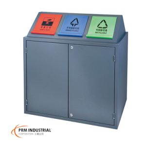 Classification Powder Coated Steel Outdoor Dustbins pictures & photos
