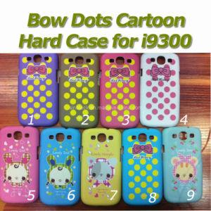 Hard Cover Bow Dots Cartoon Case for Samsung Galaxy S3 I9300
