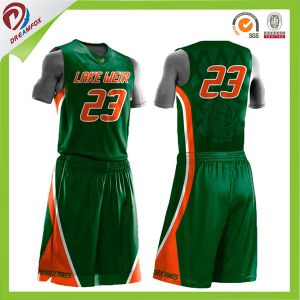 Basketball Uniform Design Camo Printing Basketball Jersey Logo Design with Sublimation pictures & photos