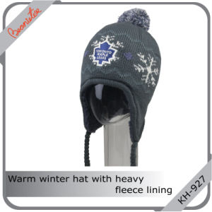 Warm Winter Hat with Heavy Fleece Lining