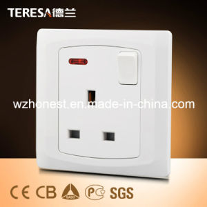 Double 13A Switched Socket with Neon pictures & photos