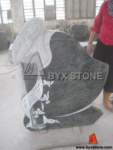 Lady Carving Granite Headstone / Tombstone with European Design pictures & photos