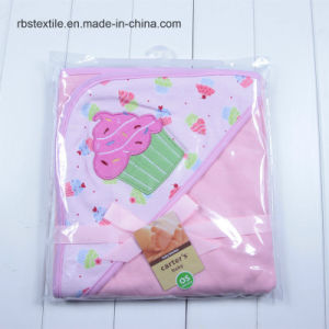 100% Cotton Swaddle Blanket Hooded Poncho Towel pictures & photos
