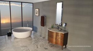 Plywood Solid Wood Sanitary Ware Bathroom Furniture Bathroom Vanity