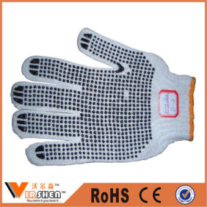 Knitted Wrist Polka DOT Cotton Gloves pictures & photos