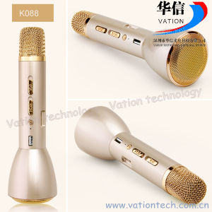 K088 Portable Mini Bluetooth Karaoke Microphone Player pictures & photos