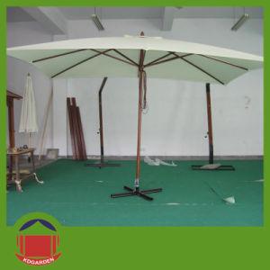 Luxury Wooden Umbrella Used in Garden pictures & photos