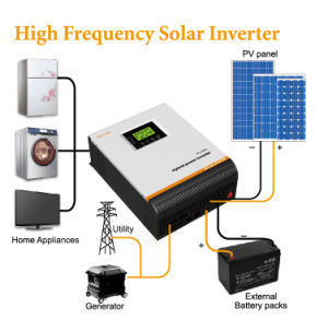 Pure Sine Wave 3kVA 24V with MPPT Controller Hybrid Solar Inverter pictures & photos