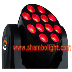 LED Stage Beam Lighting/10W*12PCS RGBW 4in1 LED Mini Moving Head Stage Beam Light pictures & photos