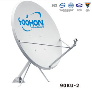 90cm Offset Satellite Dish Antenna/ 500hours UV Certification pictures & photos